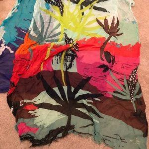 Kate Spade scarf. Bright fun pattern!